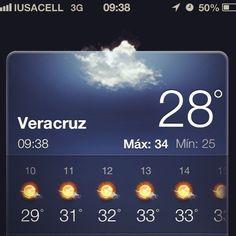 Buenos días a todos feliz #miercoles les comparto el #clima para hoy en #Veracruz #megusta http://www.facebook.com/Turismoenveracruzaventura #facebook #mexico
