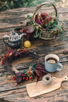 #Beautiful #autumn #tea #осенний #венок #прогулка