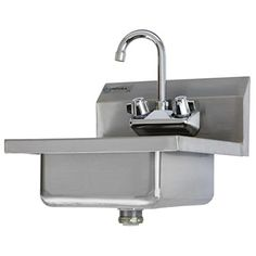 Best Kitchen Faucet | Commercial Stainless Steel Wall Mount Hand Washing  Sink W Faucet