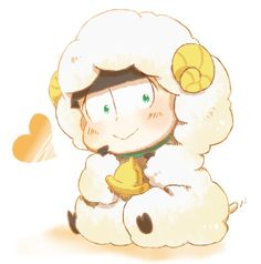 Osomatsu-san Character:Choromatsu Comedy Anime, Kawaii Stuff, Beds, Sheep