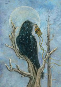 The Art of Cathy McClelland Raven finds the medicine pouch