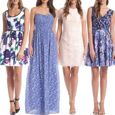 These dresses have outdoor daytime wedding written all over them.