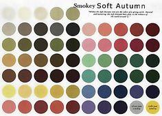 Smokey Soft Autumn : Only smoky gray warm soft colors
