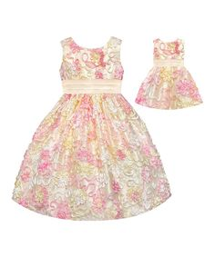 Look at this Yellow Sequin Flower Dress & Doll Dress - Toddler & Girls on #zulily today!
