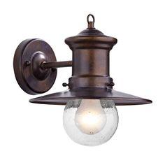Dar Sedgewick Outdoor Wall Light - Bronze