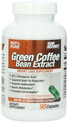 Top Secret Nutrition Green Coffee Bean Extract Diet Supplement, 90 Count - http://www.mrvitamins.us/top-secret-nutrition/top-secret-nutrition-green-coffee-bean-extract-diet-supplement-90-count/