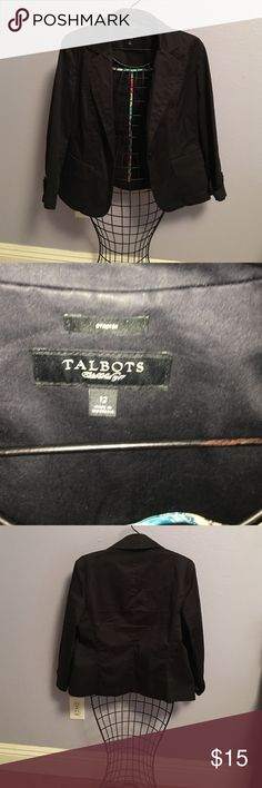 Jacket. Size 12 Black jacket. Size 12 Talbots Jackets & Coats