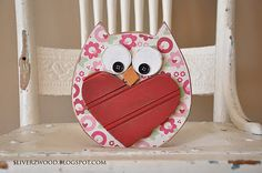 So cute, Sliverzwood cut it, you create it.  Fun home craft for Valentines Day coming up!