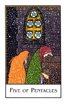 March 2 Tarot Card: Five of Pentacles (New Palladini deck) This may be a somber time of loss, defeat, or loneliness. When things are looking bleak, it's imperative you reach out for support