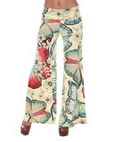 Love this Yellow Butterfly Palazzo Pants on #zulily! #zulilyfinds