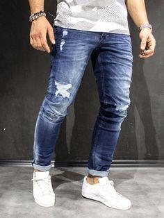 Semi ripped jeans for men⋆ Men's Fashion Blog - #TheUnstitchd