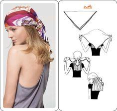 Coucou les ami(e)s , Aujourd'hui je vous propose une nouvelle façon de porter le classique foulard carré , j'espère que ces idées vous plairont et vous donneront envie de sortir ces foulards ( si vous en avez ) du fond des placards , et commencer à les...