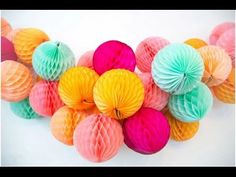 Paper Crafts Ideas How to make a Paper Honeycomb Ball 2016 - YouTube