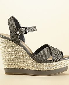 I have a wedge addiction. I love wedge strappy sandles