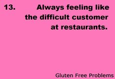 Not gluten but many other allergies makes eating out rough