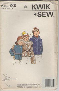 ON SALE  1980s Kwik Sew Dress Pattern for Boys by jennylouvintage
