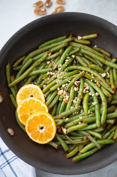 These Sweet and Spicy Sauteed Green Beans make a flavorful side dish for any family meal! This easy side dish is made with crisp green beans that are tossed with a sweet and spicy pan sauce and topped with crunchy pecans. Vegan Side Dishes, Side Dishes Easy, Side Dish Recipes, Veg Dishes, Dinner Recipes, Dessert Recipes, Dairy Free Recipes, Whole Food Recipes, Vegetarian Recipes