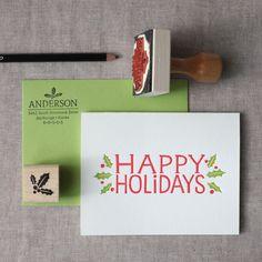 Happy Holidays Stationery Set