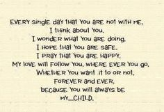 Because You Are My Child....