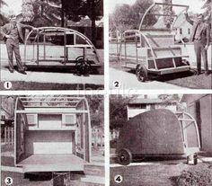 old teardrop trailers   Teardrop Trailer Plans Camping Truck camper Pop Up   eBay