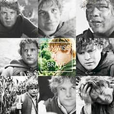 "LOTR Favorite Characters → Sam Gamgee ""One tiny Hobbit against all the evil the world could muster. A sane being would have given up, but Samwise burned with a magnificent madness, a glowing obsession to surmount every obstacle, to find Frodo, destroy the Ring, and cleanse Middle Earth of its festering malignancy. He knew he would try again. Fail, perhaps. And try once more. A thousand, thousand times if need be, but he would not give up the quest."""