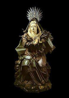 """ALEIJADINHO. """"Nossa Senhora das Dores"""", tradicionalmente atribuída a Aleijadinho. Museu de Arte Sacra de São Paulo"""