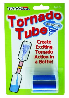 Two 2-liter bottles plus one tornado tube = one tornado! Great hands-on tool for demonstration of vortex action. Comes with complete instructions.