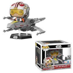 Funko Star Wars Luke Skywalker with X-Wing Exclusive X Wing, Pop Vinyl Collection, Star Wars Collection, Funko Pop Figures, Pop Vinyl Figures, Starwars, Cuadros Star Wars, Culture Pop, Star Wars Luke Skywalker