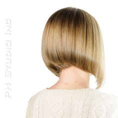 Graduated Bob, looks amazing with blonde highlights and dark lowlights.  Color, Haircut/Style: Kristina Puckorius  Products: Aquage Uplifting Foam & Aquage Volumizing Hairspray.