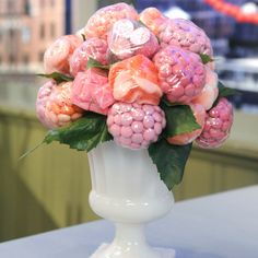 "Learn how to craft a floral candy centerpiece with this how-to from Dylan Lauren of Dylan's Candy Bar on ""The Martha Stewart Show."""