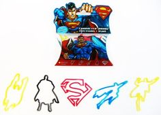 Superman Logo Bandz Bracelets by Forever Collectibles. $0.01. 20 Bandz Per Pack. 100% Silicone. 4 Different Colors. Officially Licensed By DC Comics. These colorful Rubber Band Bracelets are made of non-toxic silicone and die molded in many different colors and fun shapes. Because they are made of 100% silicone they will return to their original shape and size when you take them off the item they're holding.. Save 100% Off!