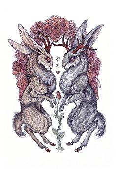 """""""Rare Hearts"""" Art Print by Caitlin Hackett on Society6."""