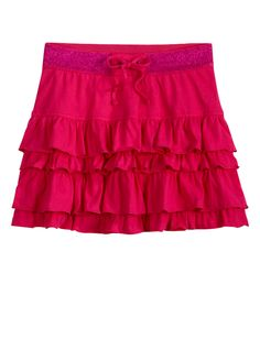 Girls Clothing | Skirts & Skorts | Tiered Knit Skirt | Shop Justice