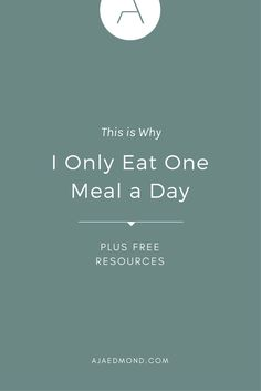 Why I Only Eat One Meal a Day Read this health and wellness post then learn more about the Effortless Health minimalist well-being program by Balanced Diet Plan, Balanced Meals, Omad Diet, One Meal A Day, Order Pizza, Healthy Diet Tips, Self Care Activities, Slim Fast, Health And Wellness