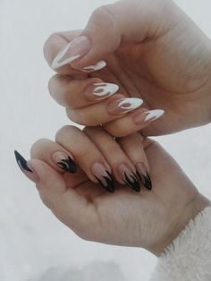 Nails October 2019 at a. Nails - Nails October 2019 at a. # Nails You are in the right place about Nail i - Edgy Nails, Aycrlic Nails, Grunge Nails, Trendy Nails, Swag Nails, Nail Manicure, Nail Polish, Coffin Nails, Black Nails