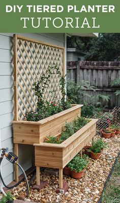 Follow this simple step-by-step tutorial using in stock lumber at @lowes! Herb Garden Planter, Cottage Garden Plants, Garden Totems, Cottage Gardens, Vegetable Garden, Tiered Planter, Diy Planters, Orchid Care, Outdoor Projects