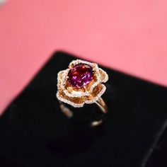 Bague de fiançailles  bague de Tourmaline par stevejewelry sur Etsy, $1999.00