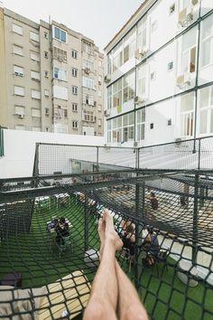 Hub Lisbon Patio Hostel, Lisbon Portugal Lisbon Portugal, Hostel, Patio, Adventure, Building, Travel, Viajes, Terrace, Porch