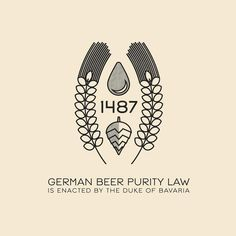 This Day In History - Nov. 30 - 1487 - The Duke of Bavaria enacts the German Beer Purity Law which states that beer should only be brewed with three ingredients; water, barley, and hops.⠀ ⠀ --⠀ #thisdayinhistory #todayinhistory #history #tdih #beer #brew #germany #bavaria #law #hops #water #barley #malt #maltedbarley #bier #365project #vector #illustration #adobe #texture #minimal #minimalism #minimal #simple #pattern #1487