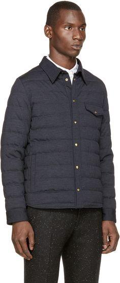 Moncler Gamme Bleu Navy Shirt Jacket