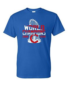 Chicago Cubs Majestic Men's 2017 World Series Champions logo Cubs T-shirt Tees Short Sleeve Shirts For Leggings, Tee Shirts, World Series 2017, Champion Logo, Shirts For Teens, Dog Shirt, Shirts With Sayings, Chicago Cubs, Mens Tops