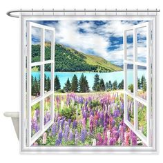 New Zealand View Shower Curtain on CafePress.com