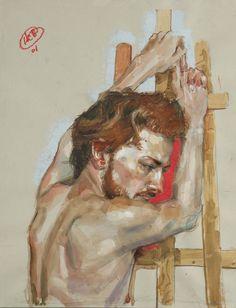 Craig Hanna, ESAEL, Pastel Gras, Crayon de Papier et lavis sur Papier 40x55 cm, 2011