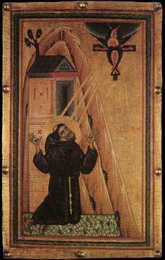 St Francis Receiving the Stigmata 1240-50 Tempera on wood, 81 x 51 cm Galleria degli Uffizi, Florence