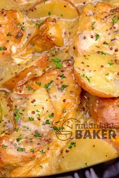 Grainy dijon mustard adds great flavor to this simple pork chop and potatoes slow cooker meal.