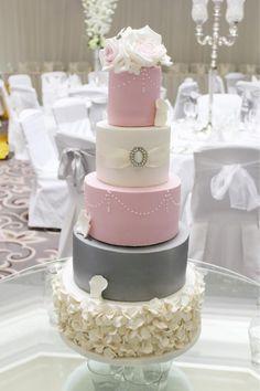 Roses and ruffles wedding cake by Elaine Boyle....bakemehappy.ie - http://cakesdecor.com/cakes/252267-roses-and-ruffles-wedding-cake