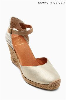 Metallic Kurt Geiger Monty Espadrille Wedge