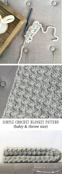 Quick And Easy Crochet Blanket Patterns For Beginners: Simple Crocheted Blanket Go To Pattern.
