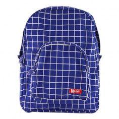 Kotak Medium Check Canvas Backpack Blue  Bakker made with love