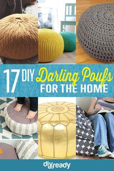 17 DIY Pouf Ideas | Easy Handmade Home Decor by DIY Ready at http://diyready.com/17-diy-pouf-ideas/
